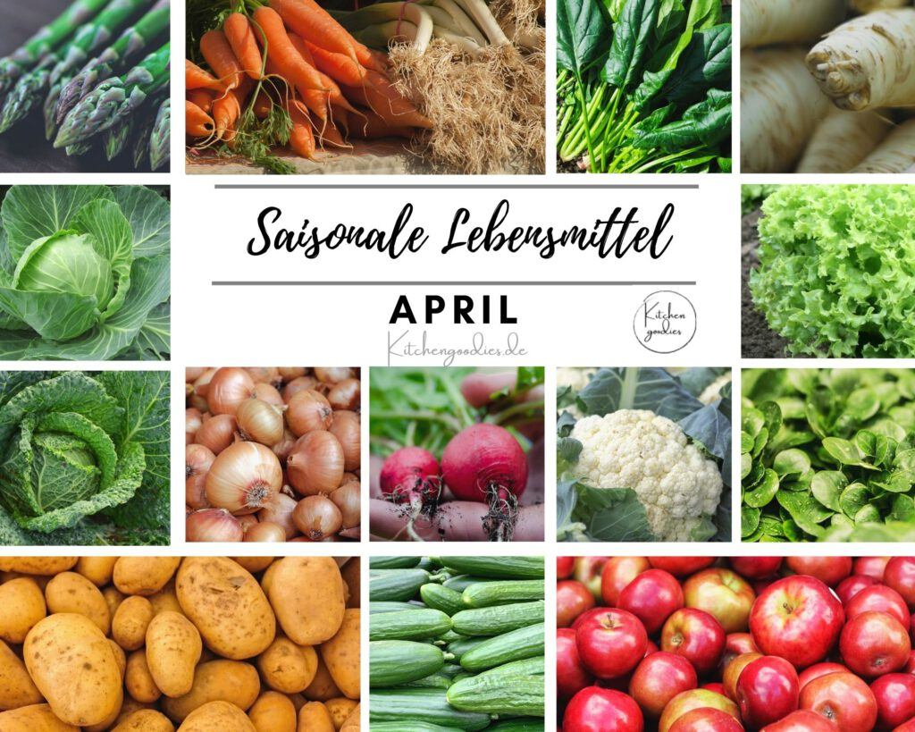 Übersicht saisonaler Lebensmittel im April