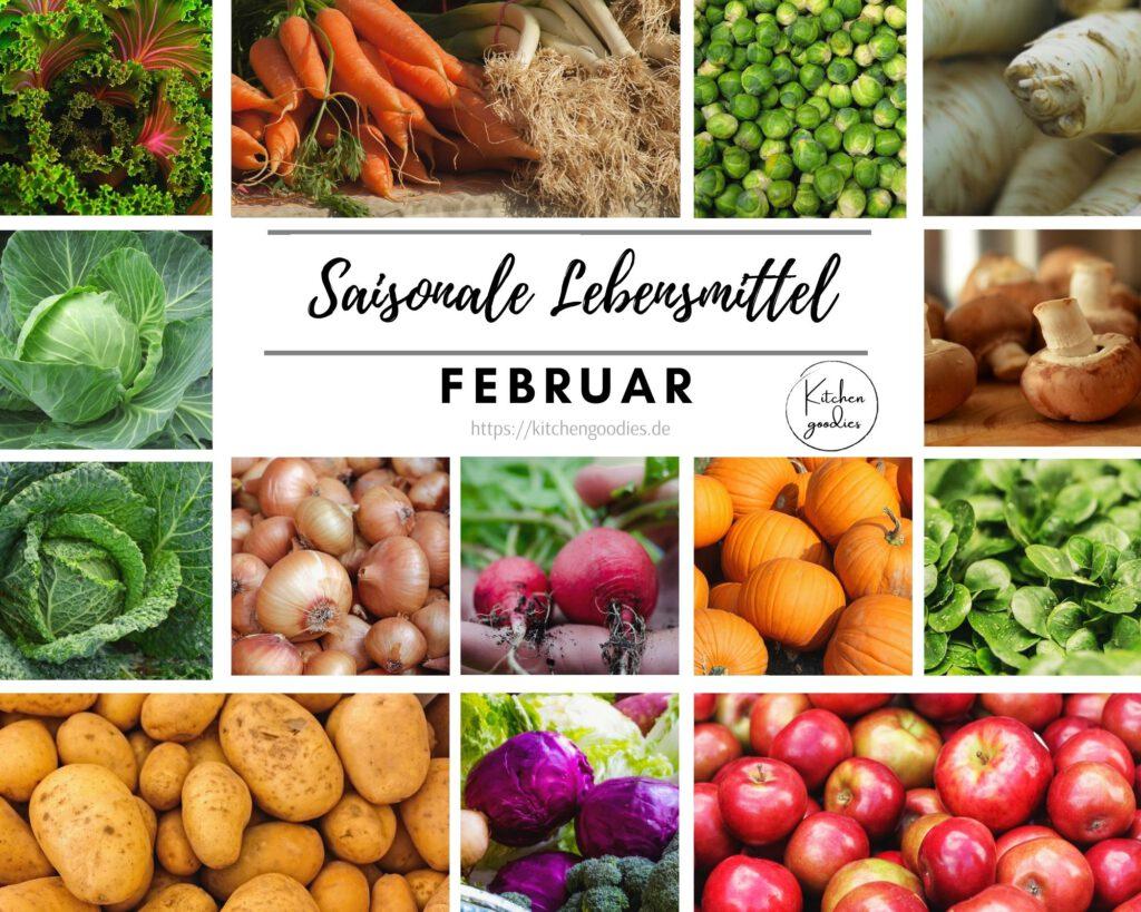 Übersicht saisonaler Lebensmittel im Februar