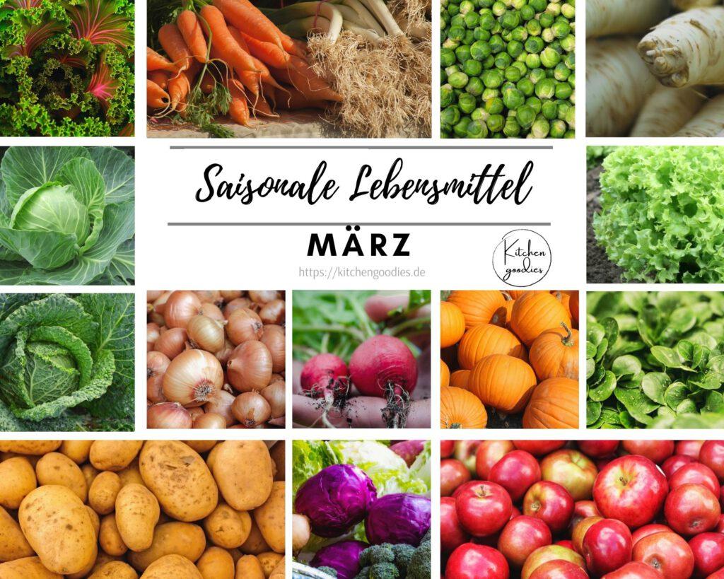 Übersicht saisonaler Lebensmittel im März