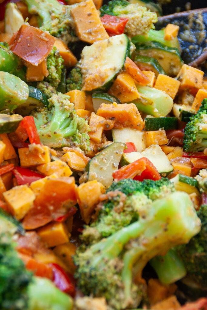 Pesto-Gemüsepfanne