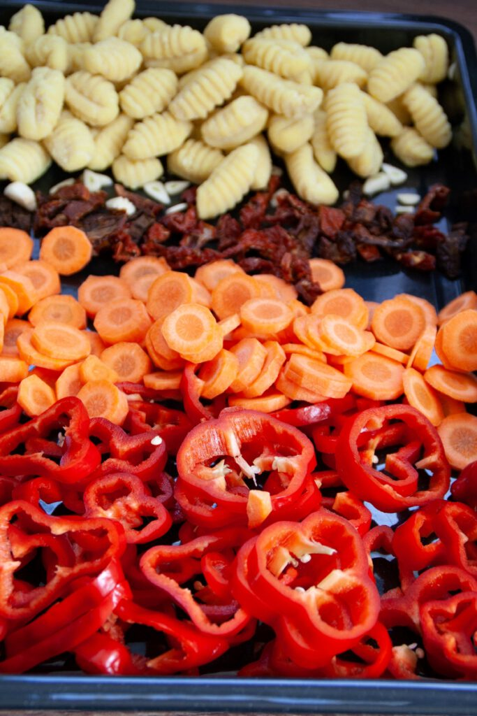 Gemüse für Ein Blech Gnocchi