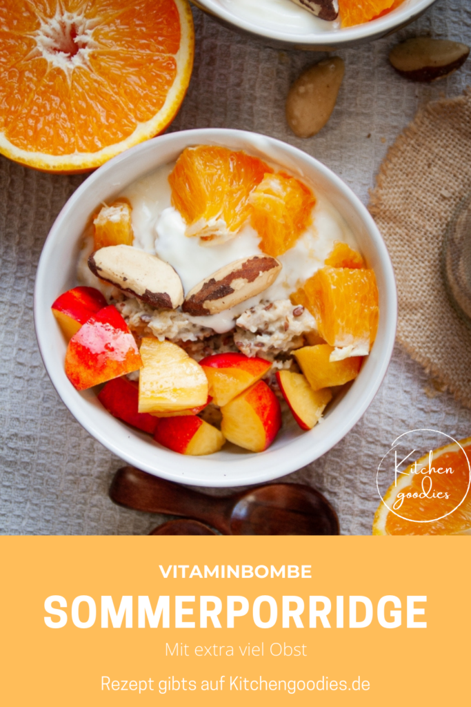 Porridge ist das einfachste gesunde Frühstück, dass ich mir vorstellen kann. Mit den richtigen Zutaten wird es zu Nährstoff- und Vitaminbombe. Es gibt euch Energie für den ganzen Tag und macht lange satt. Mein Lieblingsporridge im Sommer geht schnell, ist gesund, cremig und schmeckt himmlisch.