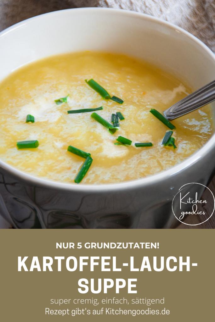 Diese cremige Kartoffel-Lauch-Suppe ist ein einfaches One-Pot-Gericht, das würzig schmeckt, schnell gekocht ist und für das ihr nur 5 Grundzutaten braucht. Das perfekte Gericht bei kaltem Wetter für die ganze Familie!